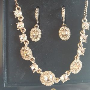 Drop Earing and Neclace Set